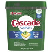 Amazon: 78 Count Cascade Actionpacs Dishwasher Detergent as low as $13.71...