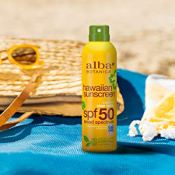 Amazon: Alba Botanica Hawaiian Coconut Oil SPF 50 Clear Spray Sunscreen...