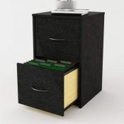 Amazon: 2 Drawer Black Oak File Cabinet $35 (Reg. $143.99)