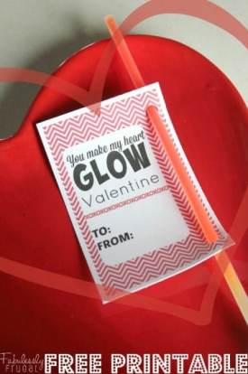 you make my heart glow free valentine printable card