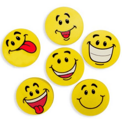 smiley face erasers for valentines day gifts