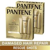 Amazon: 6 Count Pantene Rescue Shots Hair Ampoules Treatment, Pro-V, 0.5...