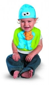 Cookie Monster Infant Bib and Hat Set