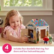 Amazon: Melissa & Doug Take-Along Wooden Doorbell Dollhouse with Keys and...