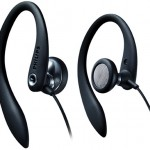 Philips Flexible Earhook Headphones, Black