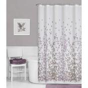 Amazon: Printed Faux Silk Fabric Shower Curtain, Purple $14.88 (Reg. $29.99)...