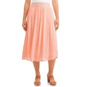 Walmart: Women's Pleated Midi Skirt $7 (Reg. $16.98)
