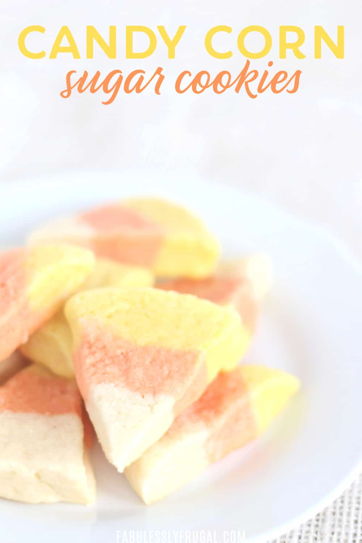 Candy corn sugar cookies recipe