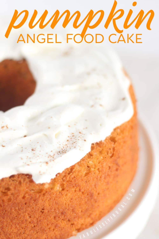 Angel food pumpkin cake recipe