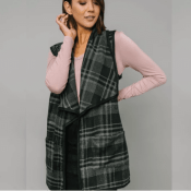 Cents Of Style: Rue Plaid Vest $19.95 After Code (Reg. $34.95) + Free Shipping