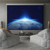 Best Choice Products: 119″ HD Pull Down Manual Projector Screen $39.98...