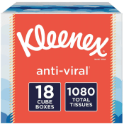 {{GONE}} Amazon: 18 Pack Kleenex 3-Ply Anti-Viral Facial Tissue $11.64...
