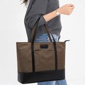 Water Resistant, Stylish, Laptop Tote Bag $13.99 After Code + Free Shipping