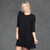 Hurry! Jane: 3/4 Sleeve Tunic Dress $15.99 (Reg. $54.99) + Free Shipping...