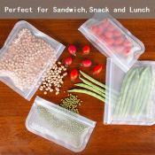 Amazon Holiday Deal! 6 Reusable Sandwich Bags & 2 Reusable Snack Bags...