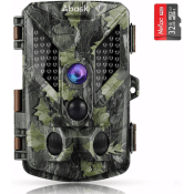 Trail Game Camera with 32G Memory Card, Night Vision + More! Just $44.49...