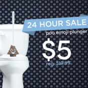 Today Only! Fun White Elephant Gift 💩 Poo Emoji Plunger Just $5