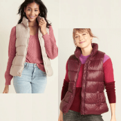 Hurry! Old Navy Cyber Week! 2 Colors! Frost-Free Puffer Vest for Women...