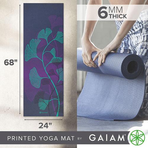 Amazon Gaiam Extra Thick Non Slip Exercise Fitness Mat