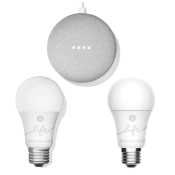 Kohl's: Google Smart Light Starter Kit + 2 GE C-Life Smart Bulb as low...