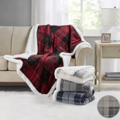 Hurry! Macy's Holiday Deal: Martha Stewart Collection Plaid Reversible...