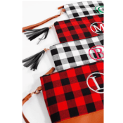 Hurry! Jane: Monogrammed Buffalo Checkered Clutches $11.99 (Reg. $27.99)+...