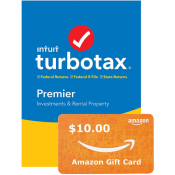 Today Only! Amazon: TurboTax Premier + State 2019 Tax Software + Free $10...
