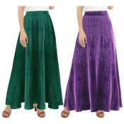 Amazon Holiday Deal: Women's High Waist Shirring Maxi Skirt with Pockets...