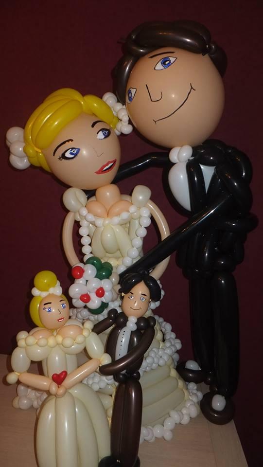 mariés sculpture ballons
