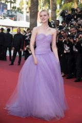 CANNES, FRANCE - MAY 24: American actress Elle Fanning arrives for the film ''The Beguiled'' in competition at the 70th annual Cannes Film Festival in Cannes, France on May 24, 2017. Philip Rock / Anadolu Agency