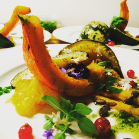 Dish, Squash, Currents and Seeds