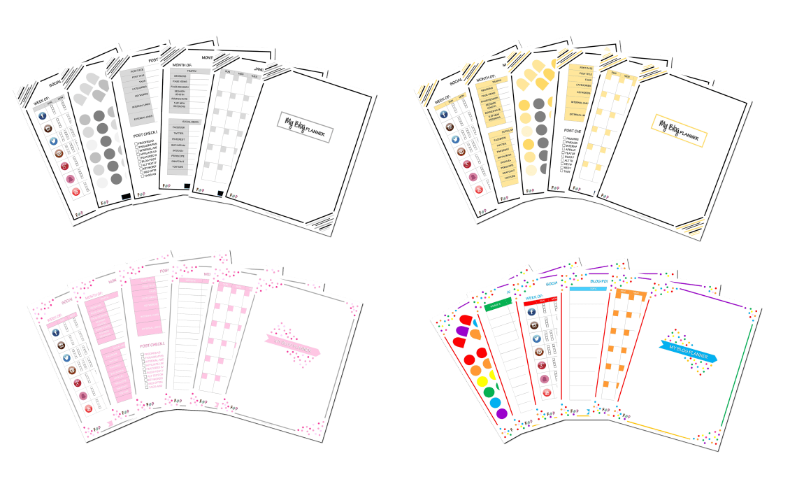 Blog Planner Pages Display