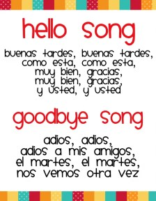 Spanish Colors Songs