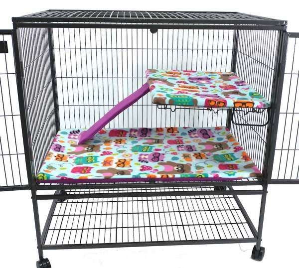 Ferret Nation Cage Liners - Nerdy Forest Friends Pattern