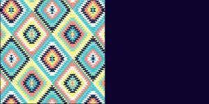 Aztec Quilt and Navy