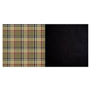 London Plaid Camel and Black