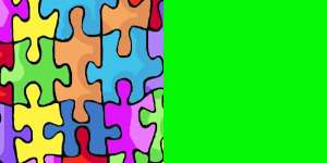 Puzzle and Lime Green
