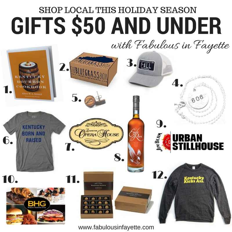 shop local kentucky gifts $50 and under