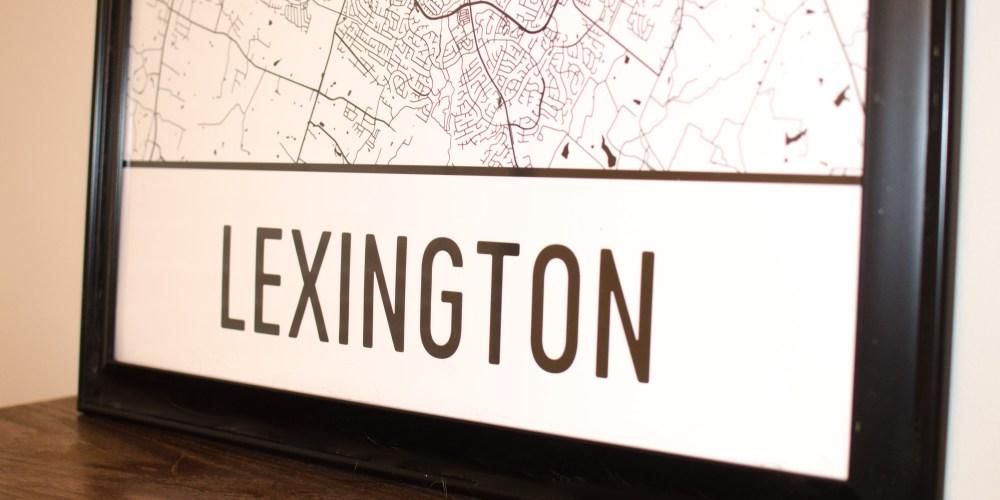 lexington kentucky map