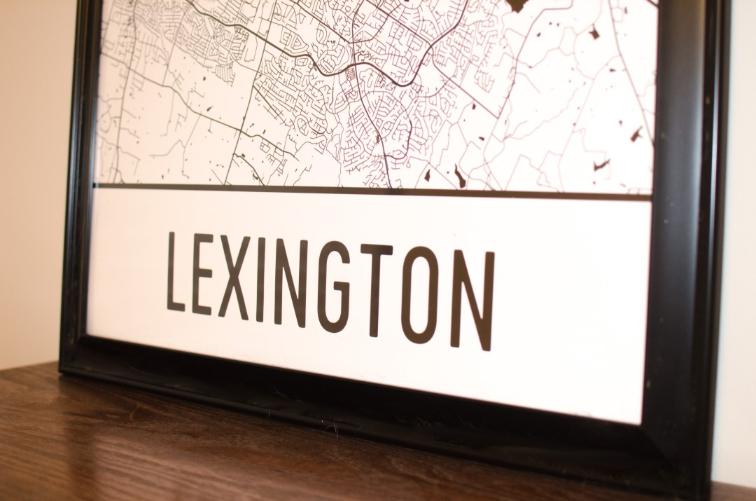 lexington kentucky map