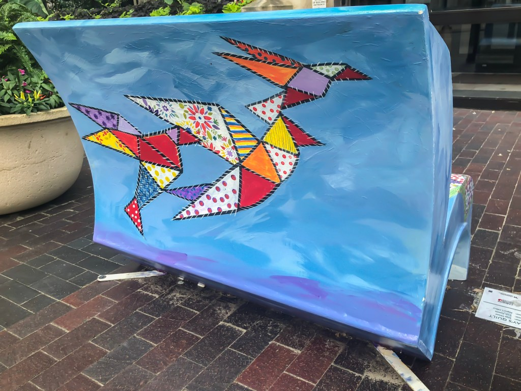 In the summer of 2018, Arts Connect, LexArts and The Carnegie Center for Literacy and Learning has made Lexington more colorful with their collaborative project, Book Benches.​ Book Benches are thirty five book-shaped functional benches that are placed throughout downtown Lexington to celebrate Kentucky's literary heritage, to encourage reading, and provide a place for rest. Each bench is illustrated and themed around different works by Kentucky authors and will remain on display for the duration of the summer. #sharethelex #art #painting #artist #author #book #lexingtonky #kentucky #visitlex #bench