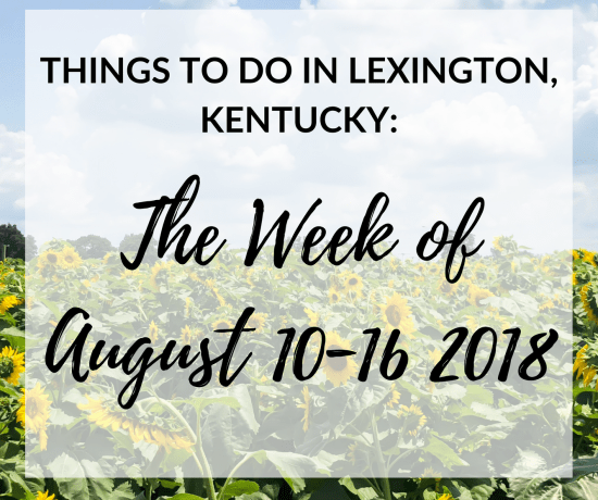 We've finally made it through another week. Can you believe it's almost the middle of August? It just seems like August just started! Since I can't include everything on my list, I've handpicked the events and included the ones that I think everyone would enjoy the most! #lexingtonky #kentucky #travel #summer