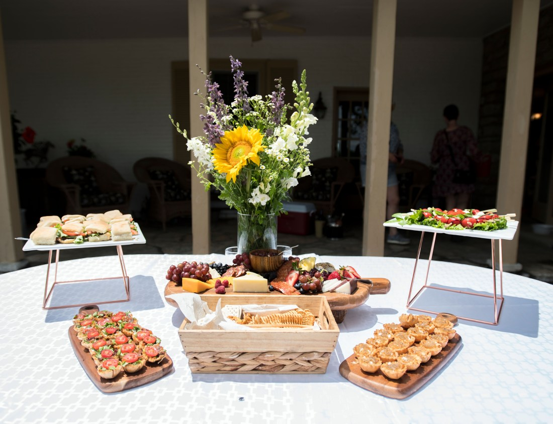A table of hors d' oeuvres