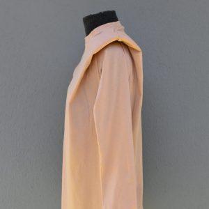 Nude shoulder pad T-shirt