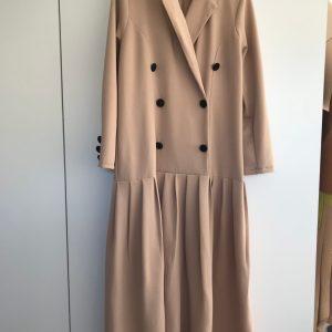 Beige Blazer Dress