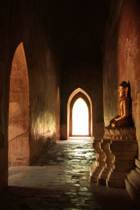 Hallway with Buddha - Bagan