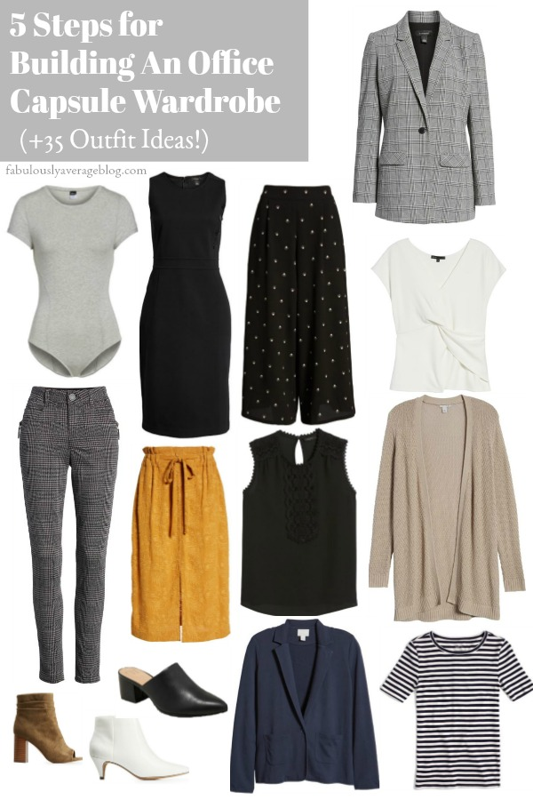 5 Steps for Building An Office Capsule Wardrobe (+35 Outfit Ideas!)