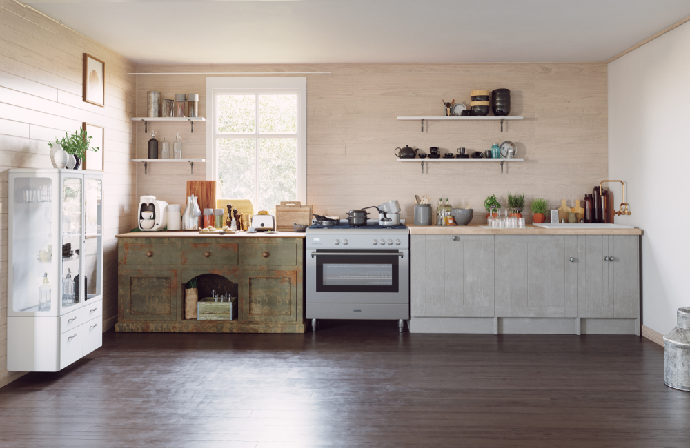 Modern Kitchen Cabinets Mixed With Classic Styles