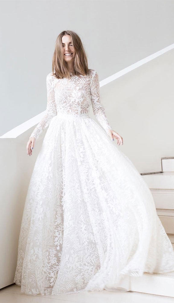 15 Dreamy Long sleeve wedding dresses that you want to wear - long-sleeved wedding dress , wedding gown #weddingdress #weddinggown