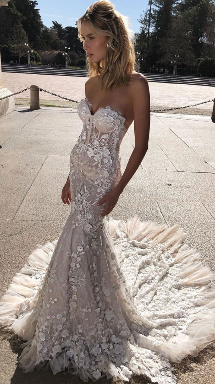 Sleeveless sweetheart neckline mermaid wedding gown - 14 Beautiful Rustic Wedding Dresses for Rustic Wedding - wedding dress #wedding #weddinggown